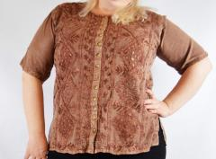Blouse female colors of coffee with milk, to the