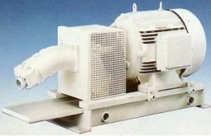 Pump installations (units pump) with axial and