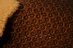 Hot stamping of genuine leather