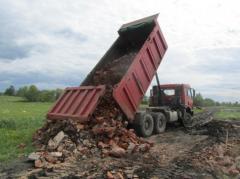 Бой кирпича и бетона, строительный бой на
