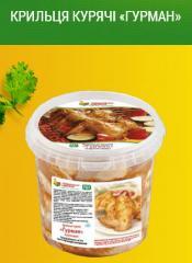 Полуфабрикаты в маринаде: Крылышки куриные «Гурман»; Окорочок куриное «Сочное»; Филе куриное «Нежное»