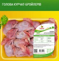 Голова и Лапки цыплят-бройлеров ТМ Гавриловские курчата. Продукция куриная охлажденная на подложке
