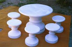 Furniture landscape gardening of a