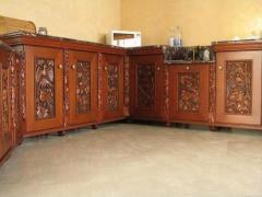 Fachadas de madeira natural para cozinhas