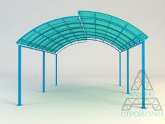 Canopies from polycarbonate. Canopy 06