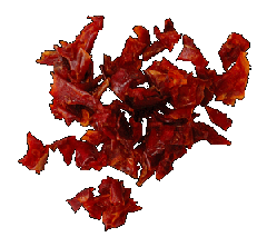 Cut red paprika 3х3. Spicery in assortmen