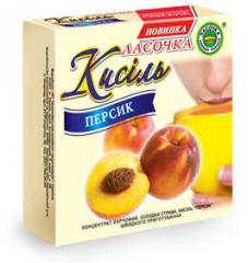 Kissel in briquette 180 gr. Peach with the natural