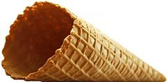 Ice cream cone with natural edge