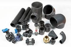 Pipes and fitting for pools of PVC
