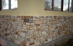 Tile socle of sandstone