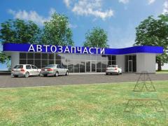 Магазины и минимаркеты из металлоконструкций. Магазин 08