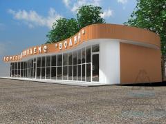 Магазины и минимаркеты из металлоконструкций. Магазин 09