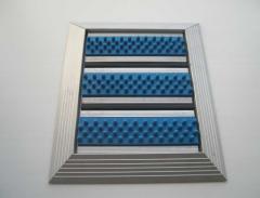 The lattice door is NEW in an external frame