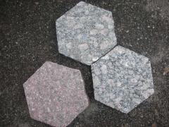 Stone blocks granite figured with the