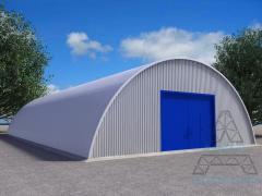 Hangars from the fast-built metalwork. Hangar 01