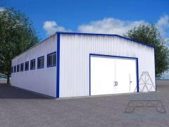 Hangars from the fast-built metalwork. Hangar 06