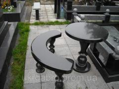 Гранитные столы, лавки