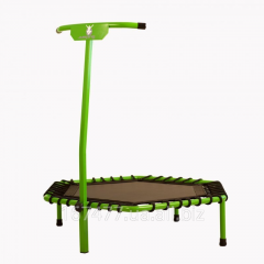 Children's trampoline with the handle
