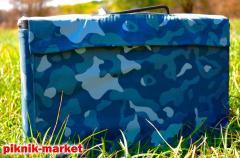 Мангал-чемодан с чехлом металл 2 мм. на 6 шампуров
