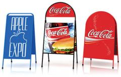 Pavement signs. Outdoor advertizing