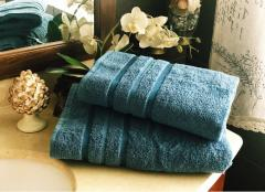 Полотенце махровое для бани 100х150 индиго,