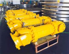 Cardan shafts of industrial function and for plate