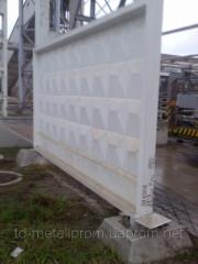 Plate for reinforced concrete fence, fence plates,
