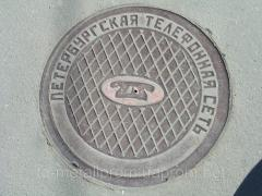 Manhole, type T L C pig-iron, polymeric, plastic,