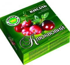 Kissel in briquette 160 gr. Cranberry