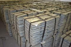 Ts0A zinc of 99,98% (Uzbekistan).