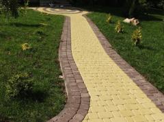 Тротуарная плитка старый город. Желтый.