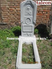 Monuments concrete, plates shrink-resistant, vases