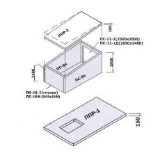 Prefabricated Teplokamera KP-2200 2200 * 5 * 200