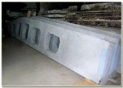 Two pitched reinforced concrete Beams