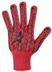 Перчатка красная с чёрной звездой ПВХ 7 класс