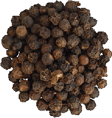 Pepper black peas. Spices and spicery in assortmen