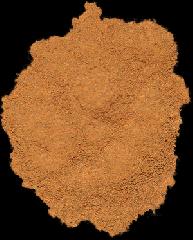 Ground cinnamon. Spices in assortmen