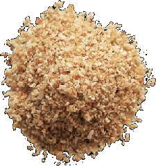 Ground powdered onion. Vegetables dried in
