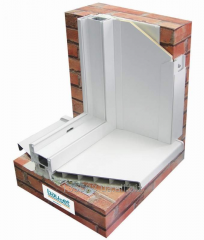 Откосная ПВХ сэндвич-панель 3000х1500х10 ПВХ 0,75