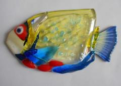 Fish a glass element for a decor