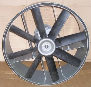 The fan is axial economic, quiet, with the import
