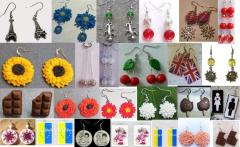 Costume jewelry. Earrings. Wholesale. Retail.