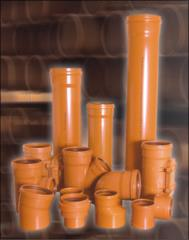 Трубы ПВХ с раструбом для наружной канализации