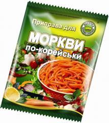 Приправа для моркови по-корейски в пакете 30гр.