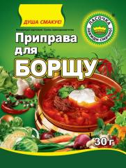 Seasoning for borsch in package 30g.