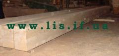 Клееный деревянные балки до 12 м.