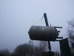 Storage tanks of juice from stainless steel