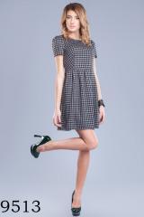9513 Повседневное трикотажное платье, приталенного