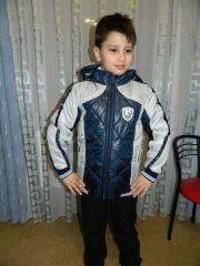 Демисезонная куртка подросток (белый с