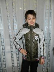 Демисезонная куртка подросток (хаки с серым)